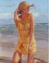 Пляжная туника-сетка крючком