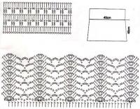 Рис 7 - вязание крючком парео, схема
