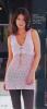 Вязанная спицами нежная-розовая ажурная туника