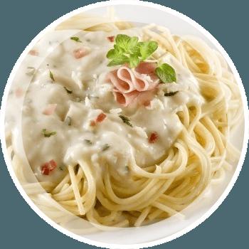 Спагетти под сырным соусом